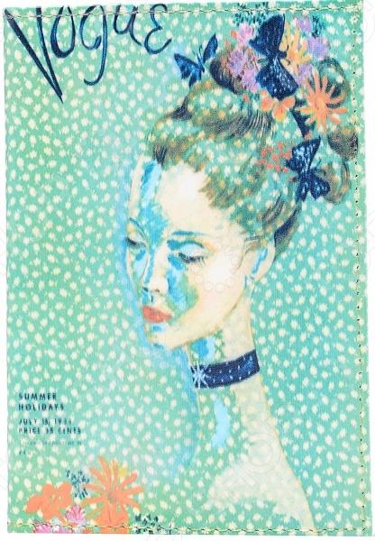 Обложка для автодокументов кожаная Mitya Veselkov «Мадам»