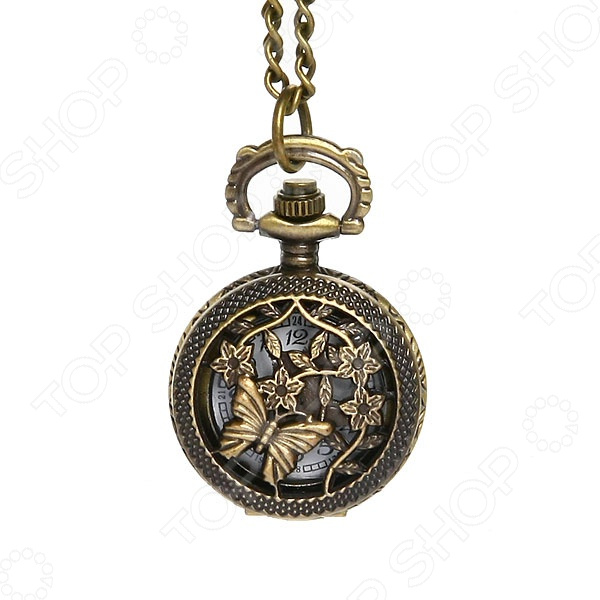 Кулон-часы Mitya Veselkov «Бабочка и васильки»