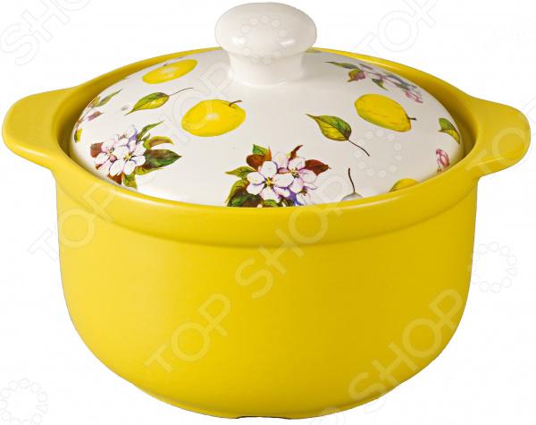 Кастрюля с крышкой Едим Дома Narino «Ломбардия» кастрюля керамическая едим дома narino ломбардия с крышкой цвет желтый белый 3 5 л