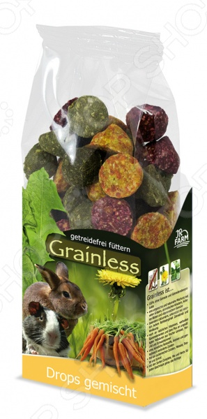 Лакомство для грызунов беззерновое JR Farm Grainless Drops Gemischt