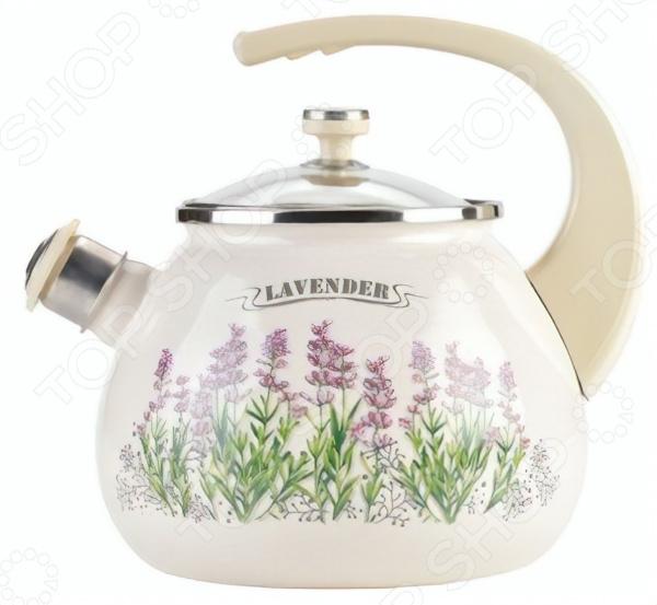 Чайник со свистком LAUREL Lavender gipfel чайник для кипячения воды visit 2 7 л