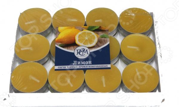 Набор свечей чайных Русская свечная мануфактура «Лимон»