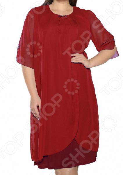 Платье Pretty Woman «Неповторимый образ». Цвет: бордовый