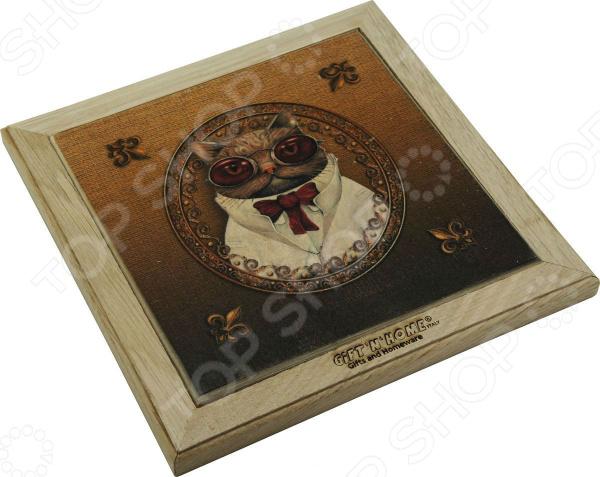 Панно-подставка под горячее Gift'n'home «Кот пижон»
