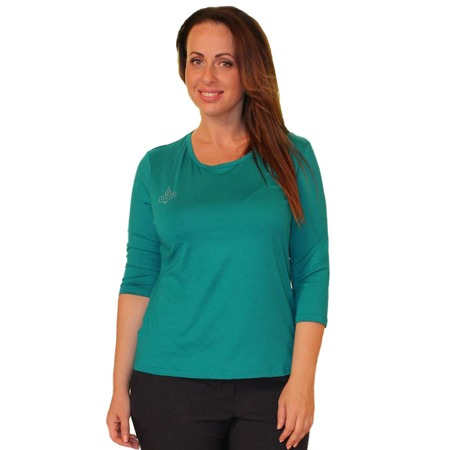 Купить Блуза Матекс «Милка»: 2 шт. Цвет: изумрудый, коричневый
