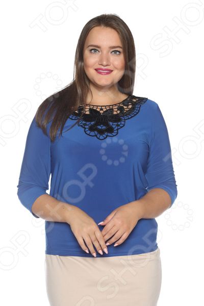 Блуза Pretty Woman «Бархатная мечта». Цвет: васильковый miu miu бархатная куртка