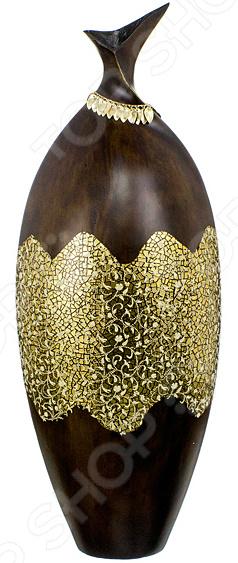 Ваза декоративная Lefard «Золотые цветы»