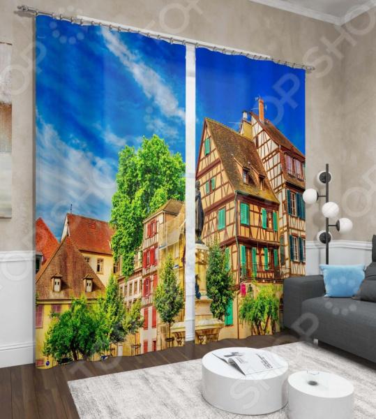 фото Фотошторы Сирень «Франция», Фотошторы с городскими пейзажами