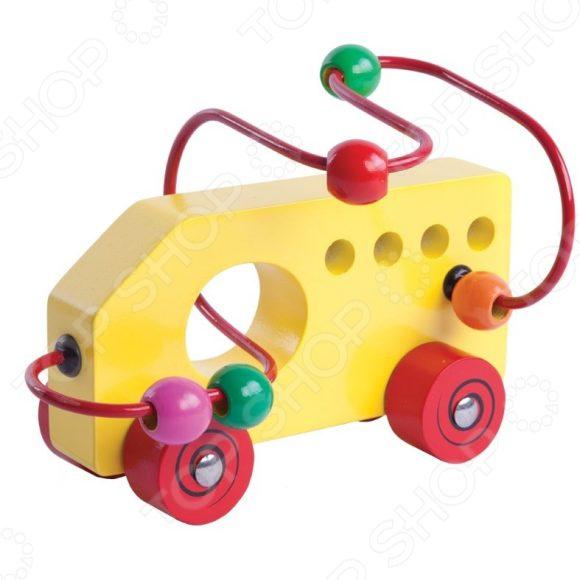 Игрушка-лабиринт деревянная Mapacha «Машинка»