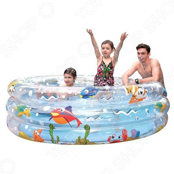 Бассейн надувной Jilong Ocean Fun 3-ring Pool JL017268NPF бассейн каркасный jilong kids frame pool цвет зеленый 152 х 152 x 33 см