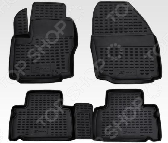 Комплект ковриков в салон автомобиля Novline-Autofamily Ford S-MAX 2006 комплект 3d ковриков в салон автомобиля novline autofamily ford tourneo custom 2013 2014