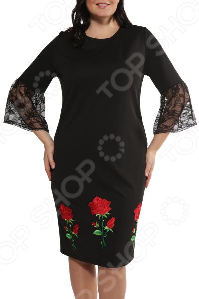 Платье Wisell «Лучистые маки»