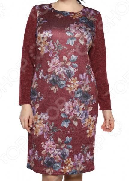 Платье Лауме-Лайн «Бархатный блюз».Цвет: бордовый