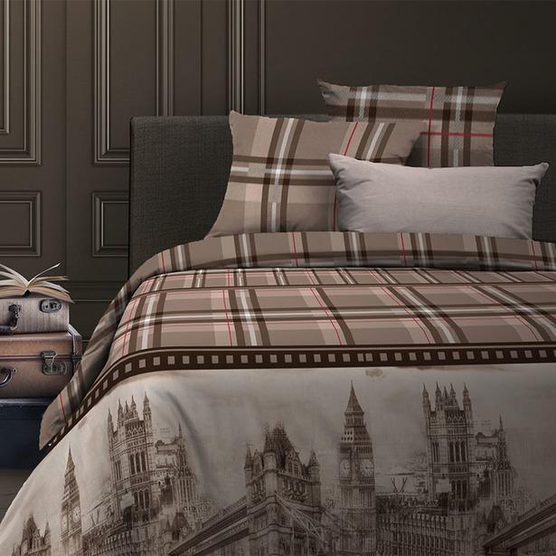 фото Комплект постельного белья Wenge Oxford. Евро. Цвет: коричневый