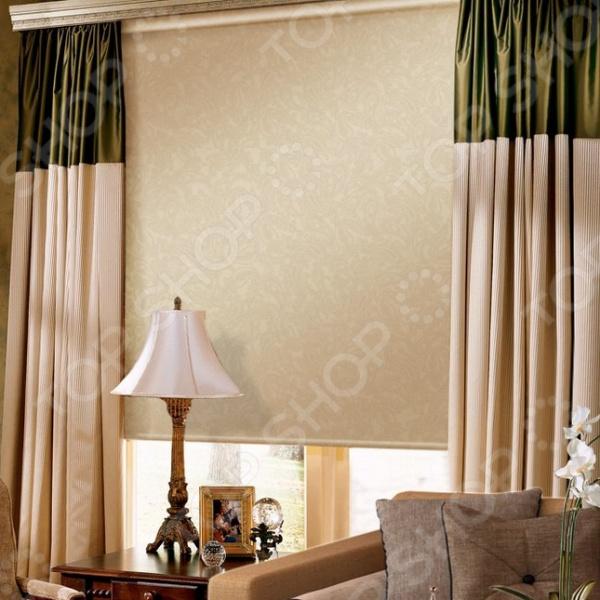 Рулонная штора Эскар «Арабеска». Цвет: молочный