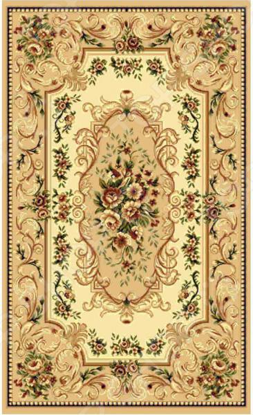 Ковер прямоугольный Kamalak tekstil «Райский сад». Цвет: бежевый - артикул: 1602559