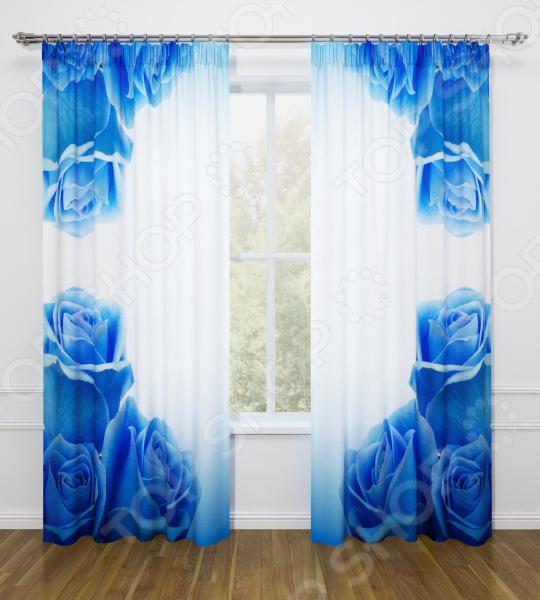Фотошторы Стильный дом «Синие розы»