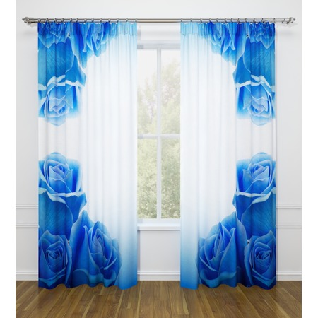 Купить Фотошторы Стильный дом «Синие розы»