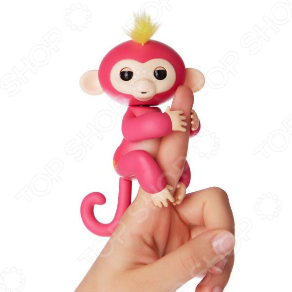 Игрушка интерактивная Finger Monkey «Обезьянка» rug bag for finger monkey dolls portable storage box kids play toys
