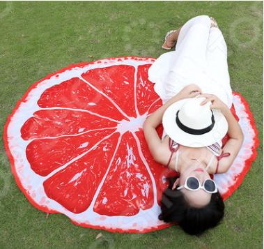 Фото - Покрывало-парео пляжное Beach Towel «Грейпфрут» flower shape beach towel