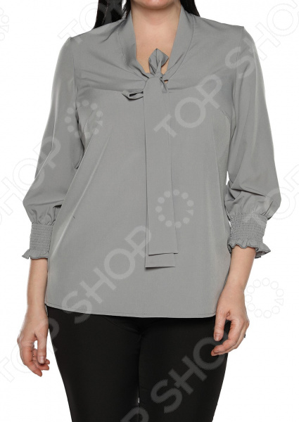 Блуза Blagof «Нежные очертания». Цвет: серый блуза blagof блуза мерси цвет персиковый
