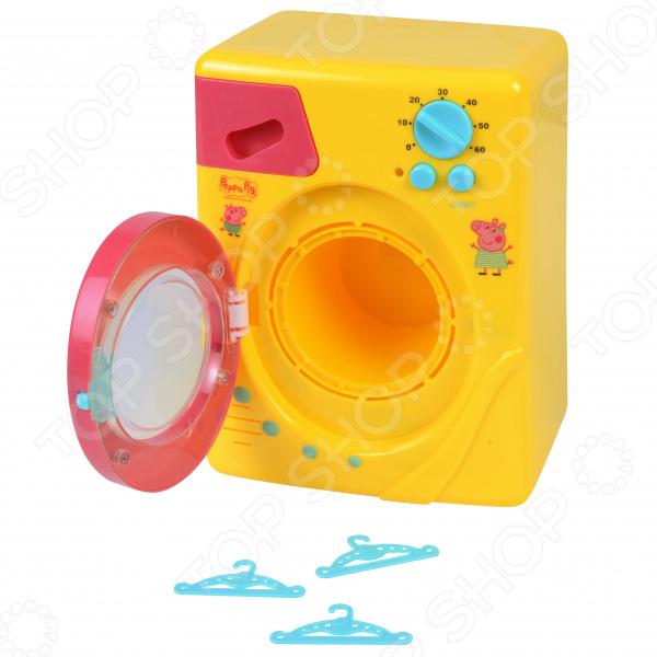 Стиральная машина игрушечная Peppa Pig с крутящимся барабаном