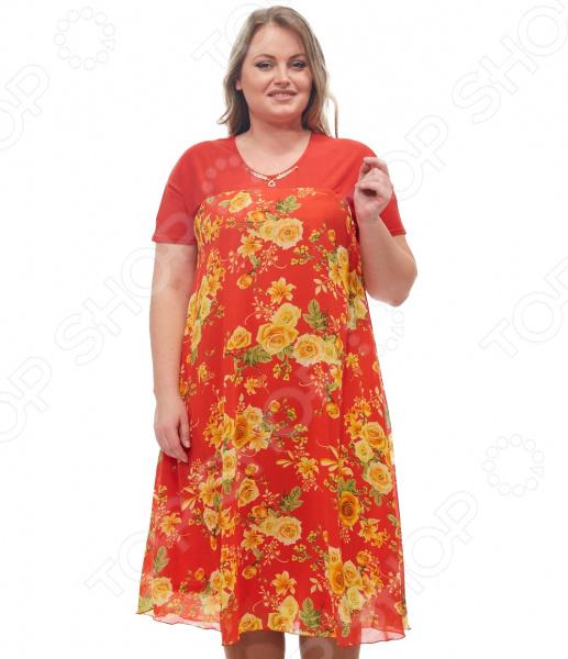 Платье Blagof «Никея». Цвет: красный платье горная лаванда blagof платья и сарафаны с принтом