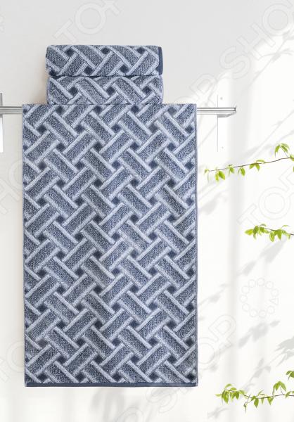 Полотенце махровое Aquarelle «Бостон вид 2». Цвет: белый, маренго полотенце aquarelle бостон 1 цвет белый маренго 70 х 140 см