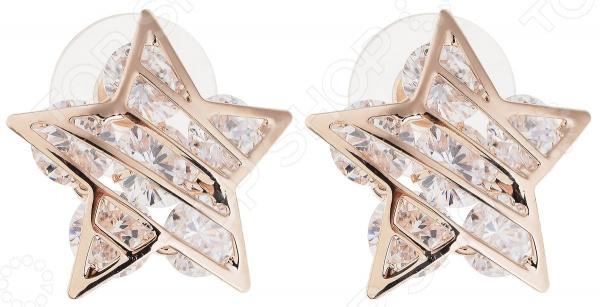 Серьги Bradex «Звездочки» серьги bradex жемчужные звезды