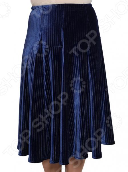 Юбка Pretty Woman «Нежный бархат». Цвет: синий