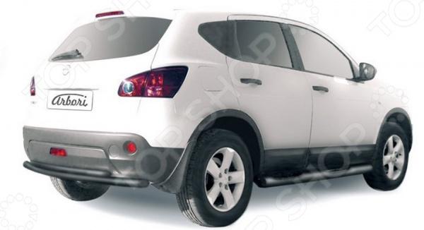 Защита заднего бампера Arbori двойная для Nissan Qashqai+2, 2011 2qty задний багажник потрясений распорки для nissan 350z 2004 2007 кабриолет только