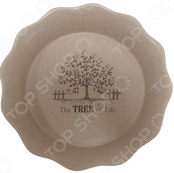 Форма для выпечки круглая Terracotta «Дерево жизни» форма для выпекания керамика kitchenaid набор kblr02mber 2шт по 0 45л