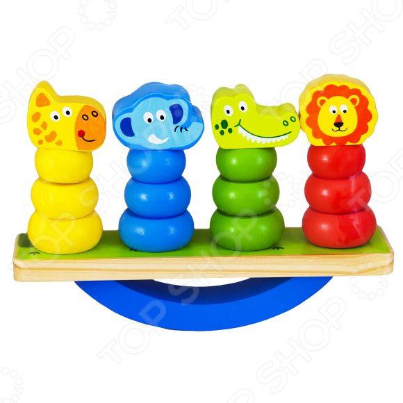 Игра развивающая Mapacha «Баланс: Животные» игрушка деревянная mapacha развивающая игра готовим завтрак
