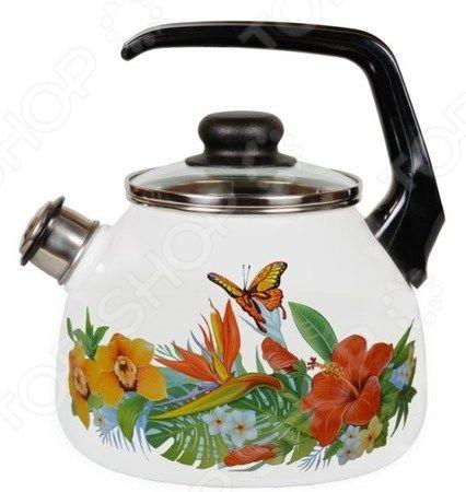 Чайник эмалированный со свистком Vitross Tropicana