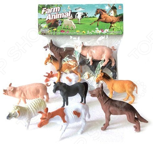 Набор фигурок домашних животных Shantou Gepai Farm animal A163