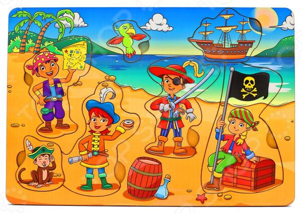Игра развивающая «Рамка-вкладка: Дети-пираты» игрушка развивающая игрушка рамка вкладка паравозик ig0119