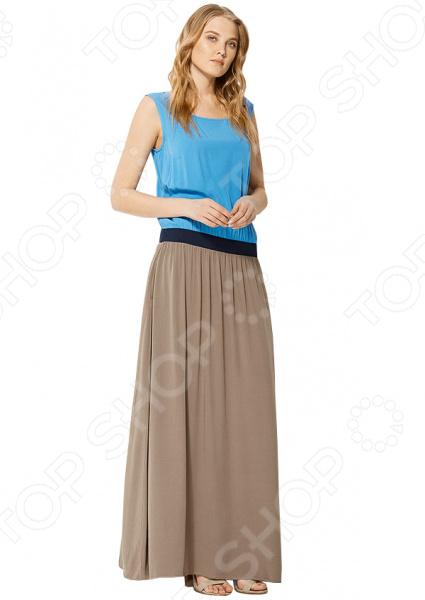 Платье Finn Flare S16-11036. Цвет: светло-коричневый