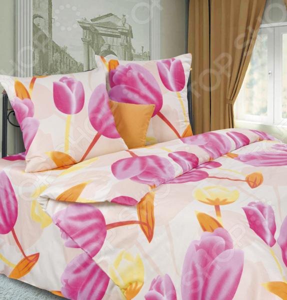 Комплект постельного белья DIANA P&W «Тюльпаны». 1,5-спальный