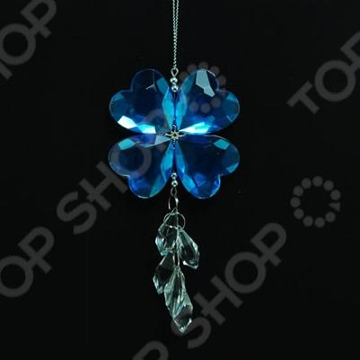 Новогоднее украшение Crystal Deco «Подвеска: клевер»
