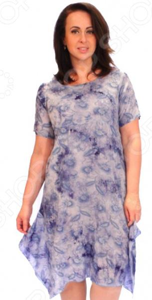 Платье СВМ-ПРИНТ «Армель». Цвет: голубой