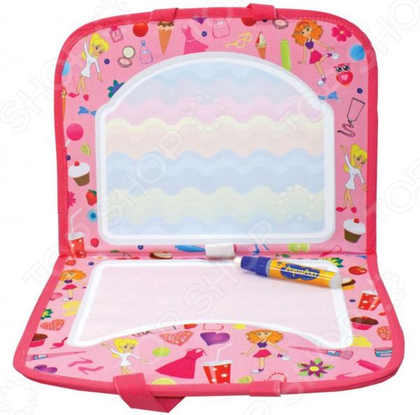Коврик для рисования водным маркером 1 Toy AquaArt «Розовый чемоданчик»
