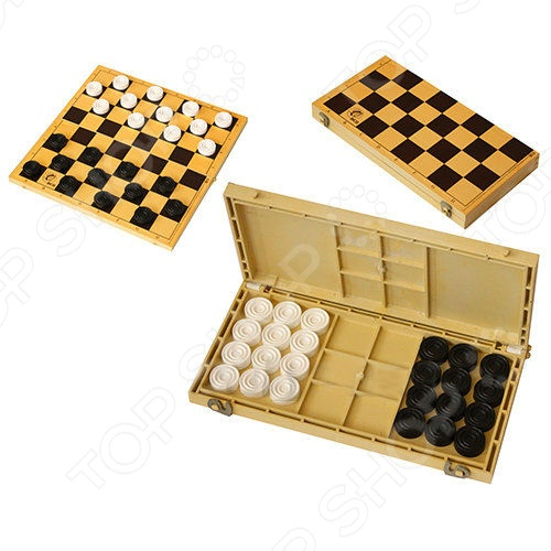 Шашки с шахматной доской Action ES-0292