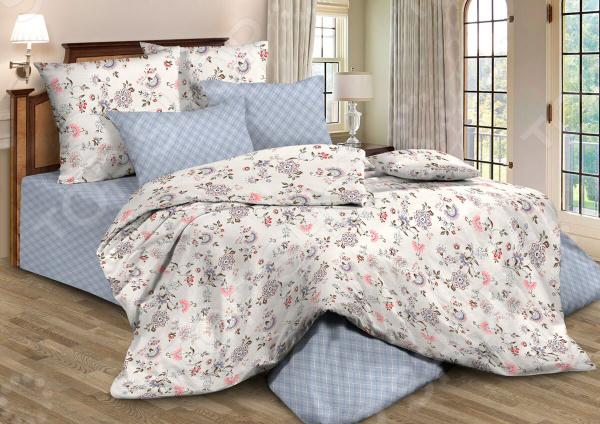 Комплект постельного белья Guten Morgen 795. Цвет: голубой портьеры алор к голубой