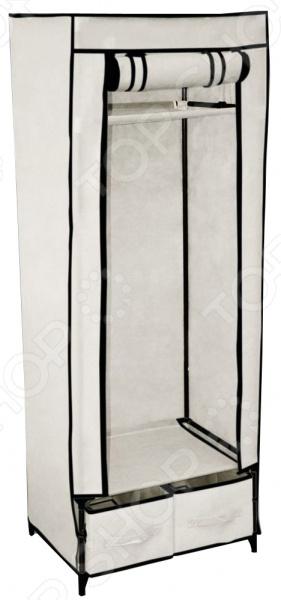 Вешалка-гардероб с чехлом Sheffilton 2018 представляет собой компактное и практичное решение для хранения вещей. Каркас стойки выполнен из металлических трубок и пластиковых соединительных крепежей. Кроме того, предусмотрена промежуточная полка из плотного нетканого материала и металлическая штанга для вешалок-плечиков. Плотный чехол, поставляемый в комплекте, защитит вашу одежду от пыли, грязи и влаги.
