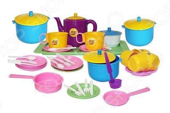 Набор посуды игрушечный Пластмастер «Позови гостей» пластмастер игрушечный набор монтажник