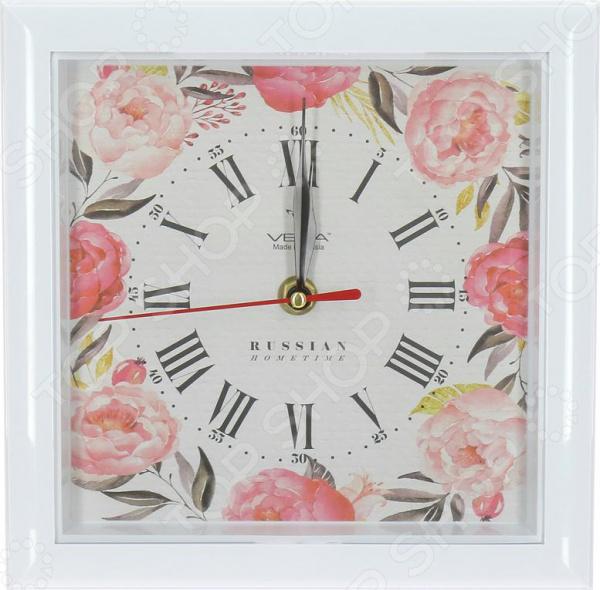 Часы настенные Вега П 3-7-128 «Пионы»
