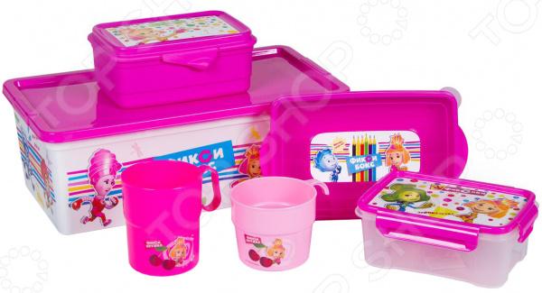 Набор: ланч-боксы, кружки и контейнеры для хранения Полимербыт SGHPBKP24 «Фиксики»