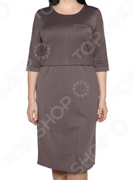 Платье LORICCI «Дамское счастье». Цвет: капучино платье loricci белые ночи цвет серый