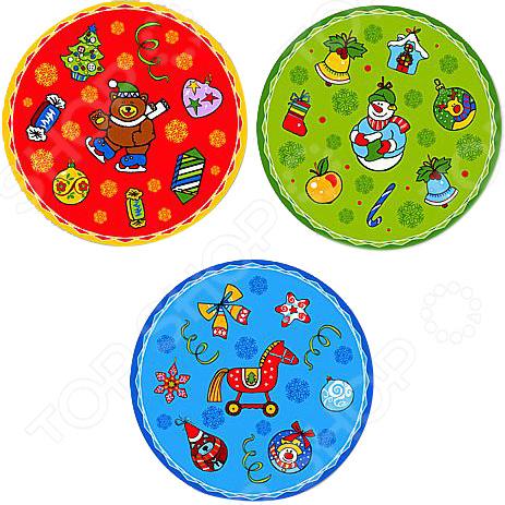 Набор салфеток Мультидом «Новогодние шары» FJ2-24. В ассортименте