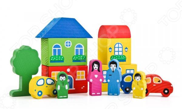 Конструктор для малышей Томик «Цветной Городок-6» конструктор для малышей томик веселый городок